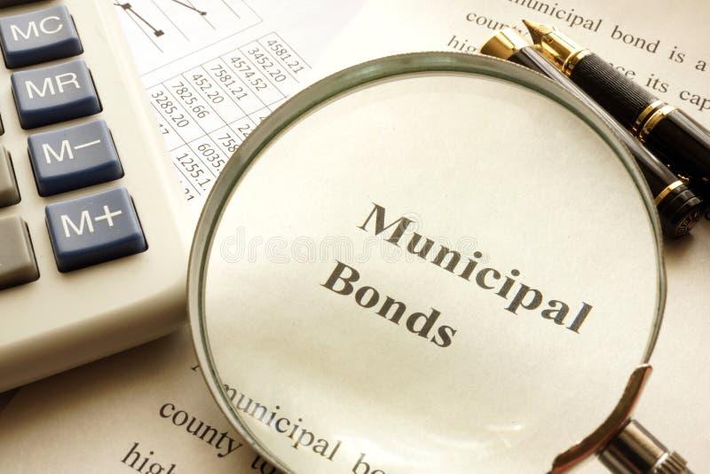 与标题市政债券的文件 免版税图库摄影