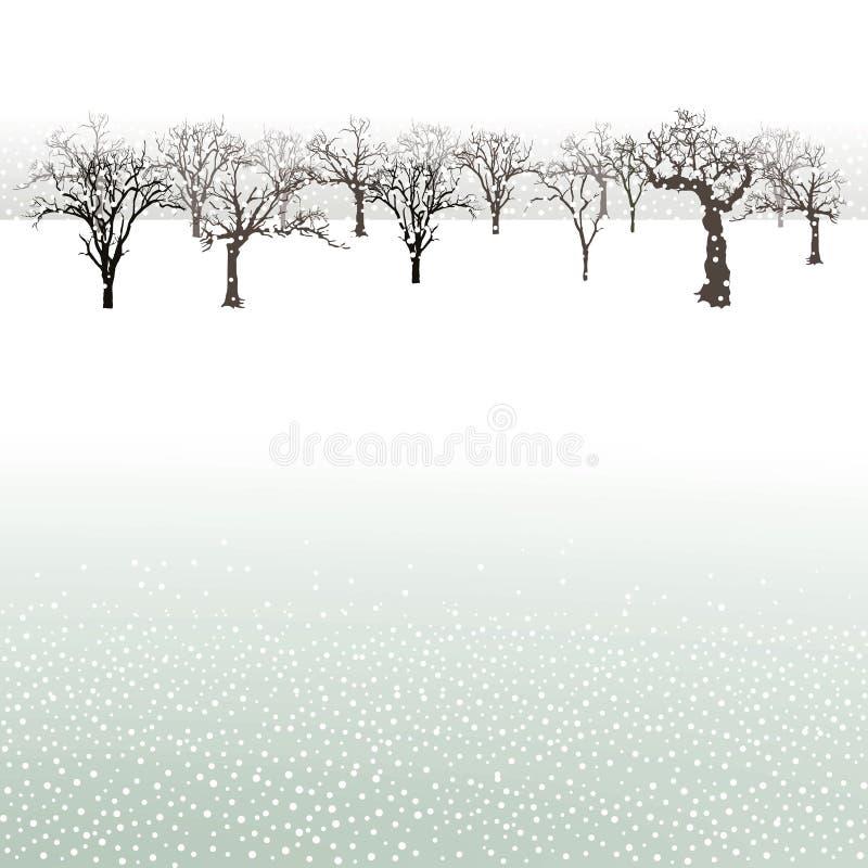 在冬天风景的树 皇族释放例证