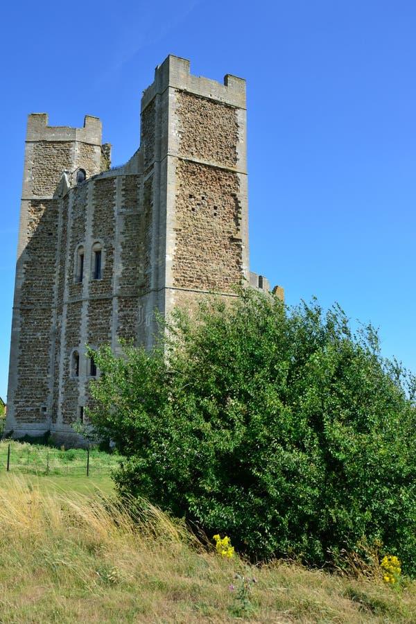 与树的诺曼底城堡 库存照片