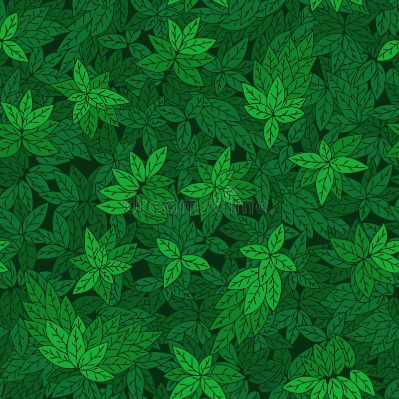 与树绿色分支的无缝的样式  向量例证