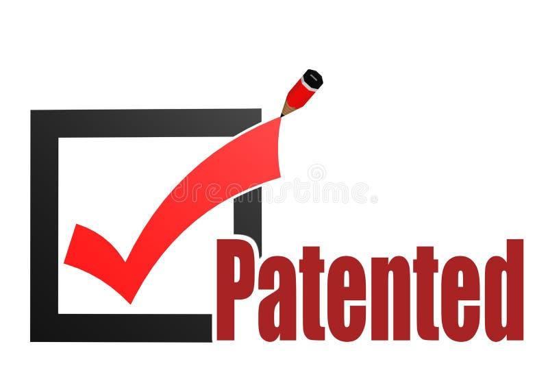 与校验标志和铅笔的给予专利的词 向量例证
