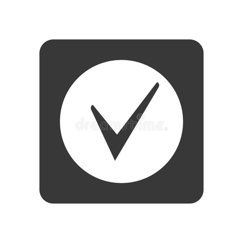 与校验标志标志的质量管理象 向量例证
