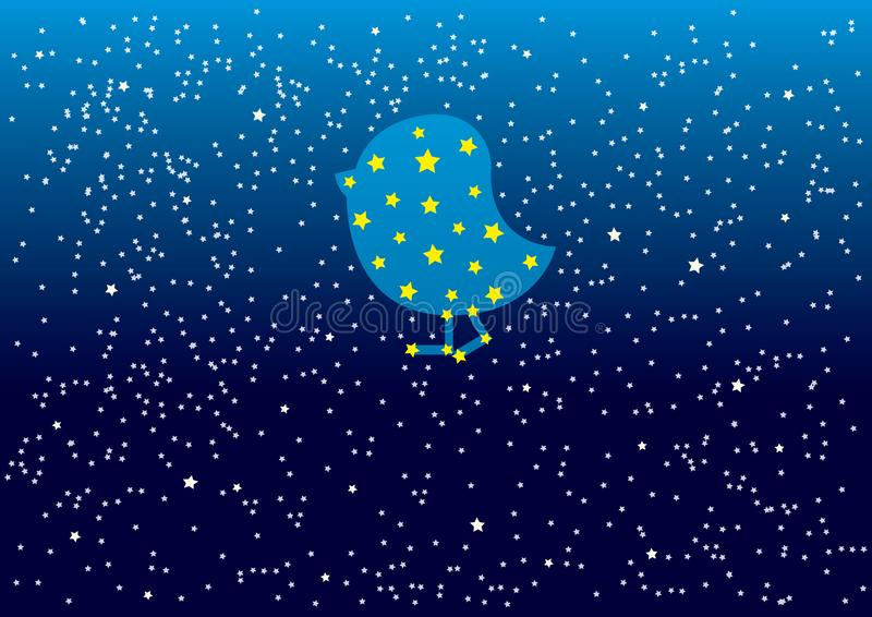 与样式白色星和小点的蓝色夜空Pleiades r 皇族释放例证