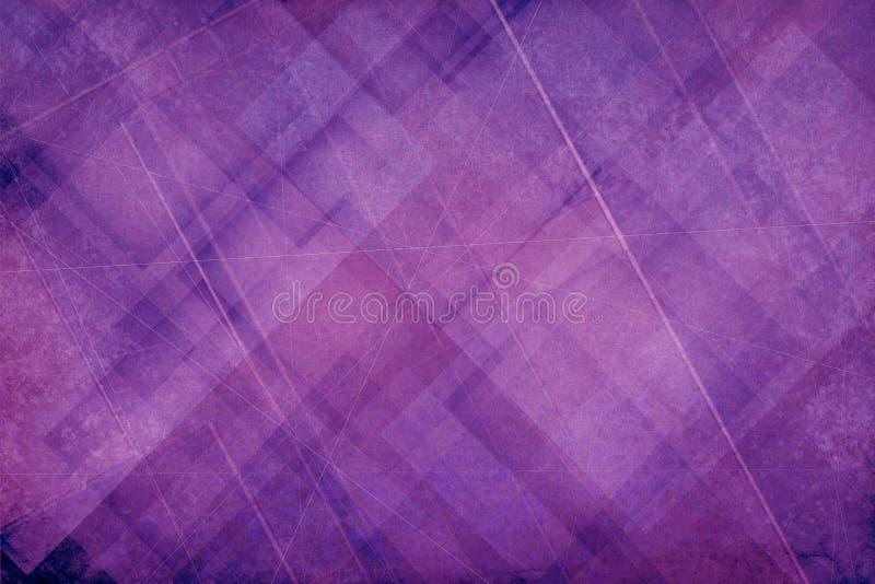 与样式的抽象紫色和桃红色背景与纹理 库存例证