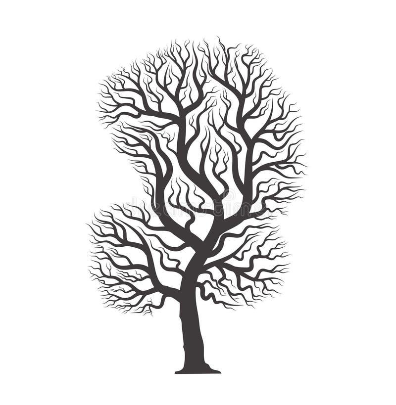 与根的黑树 库存例证