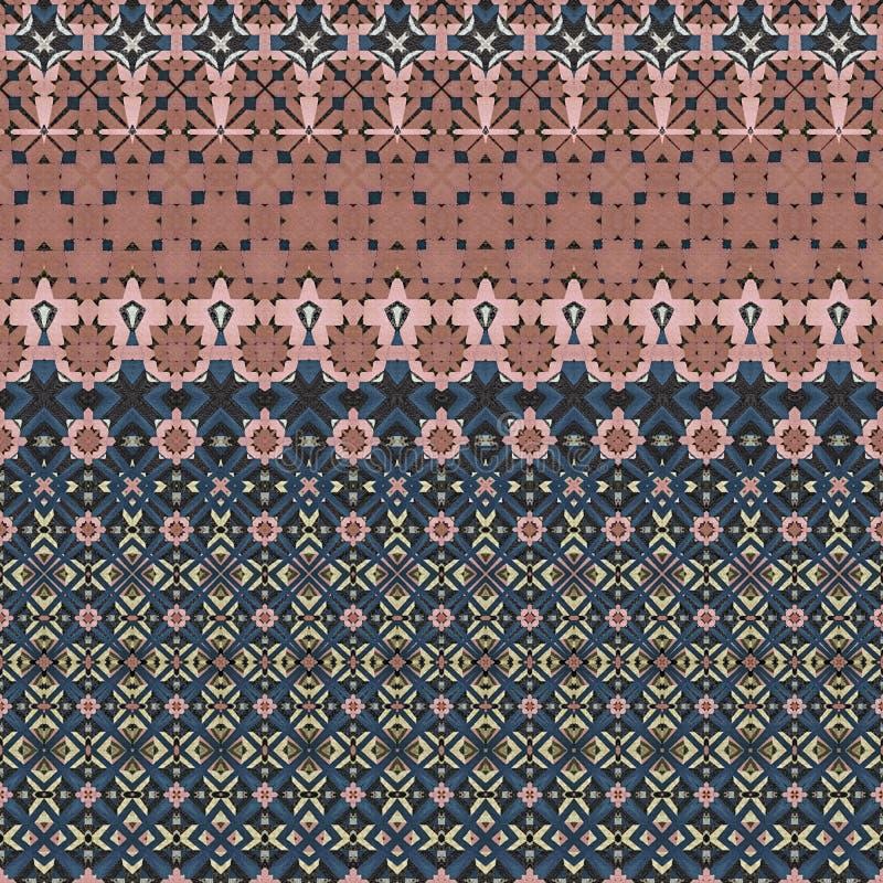 与桃红色和蓝色的抽象设计 库存例证