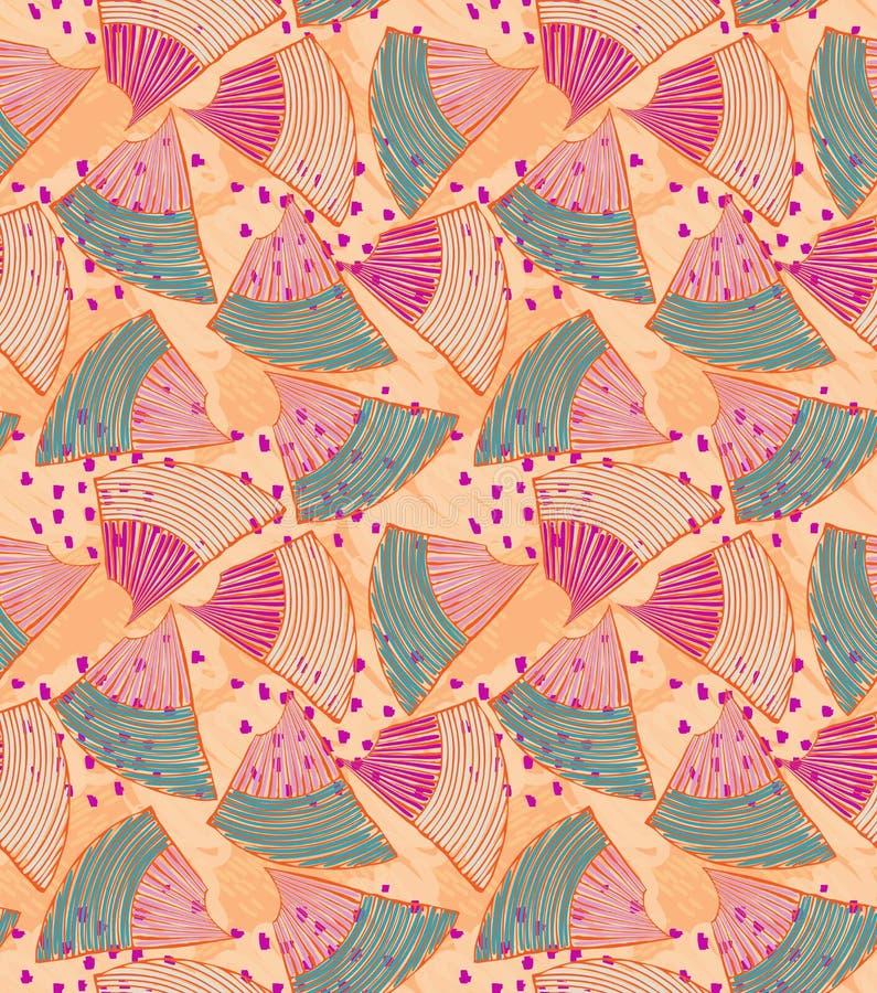 与桃红色小点的抽象海壳 皇族释放例证