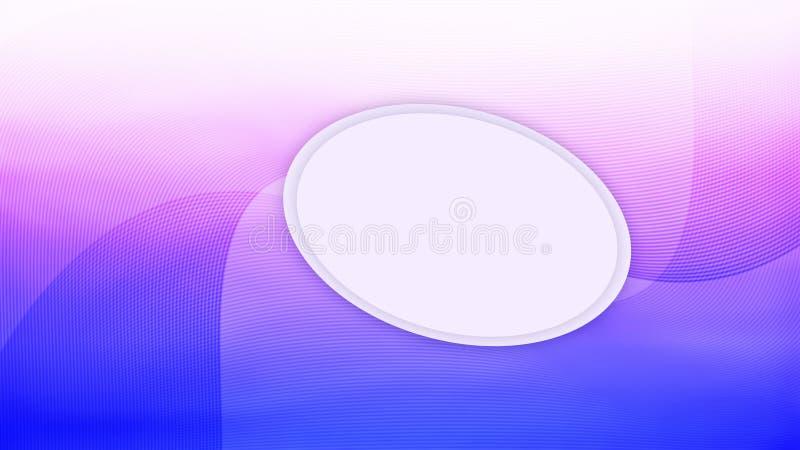 与桃红色被遮蔽的紫色波浪线网站和UI UX设计的梯度背景的蓝色 库存例证