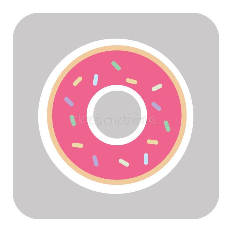 与桃红色釉的多福饼 多福饼象,传染媒介例证 库存例证