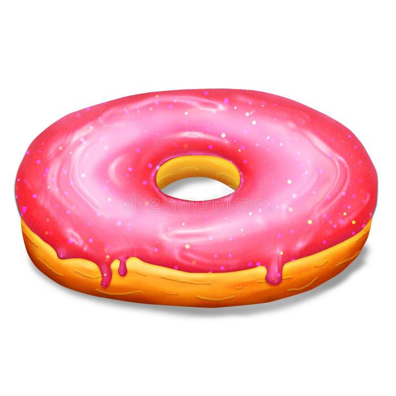 与桃红色釉的多福饼 库存图片