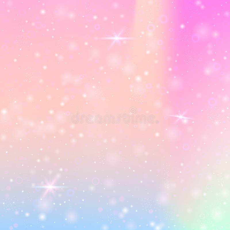 与桃红色闪烁心脏的华伦泰背景 2月14日天 库存照片