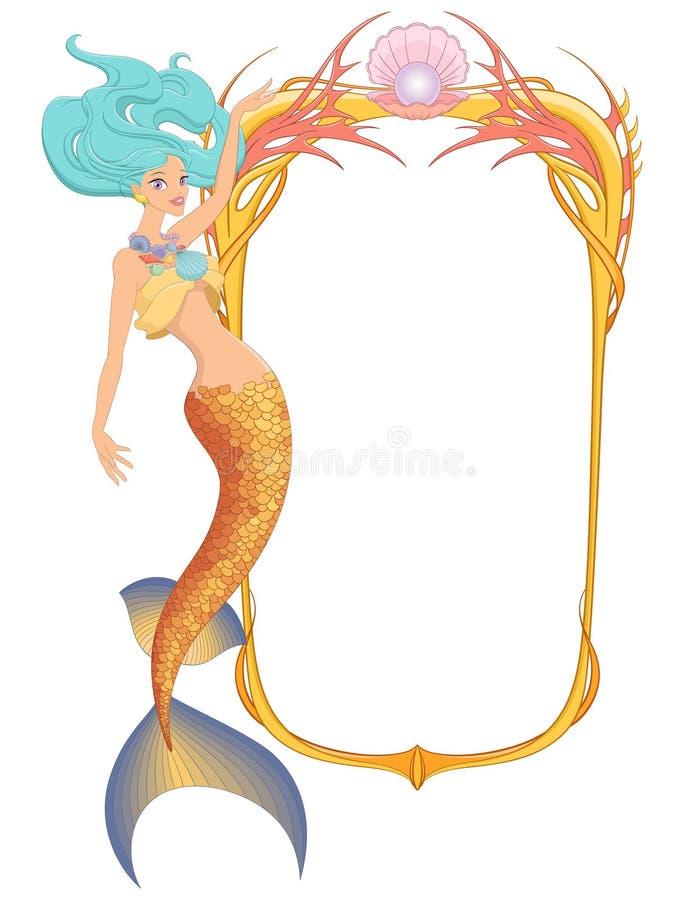 Download 与框架的美人鱼 也corel凹道例证向量 向量例证. 插画 包括有 美人鱼, 图画, 飞溅, 幻想, 童话 - 72374785