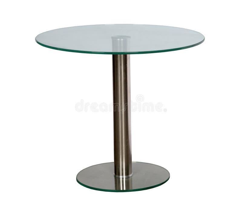 与桌面玻璃的表 库存照片
