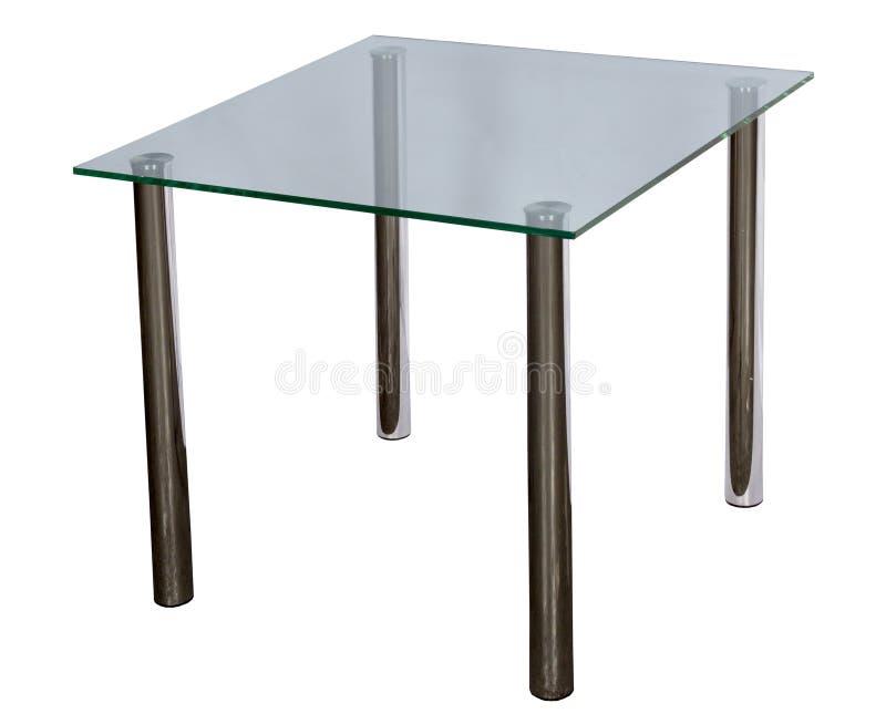 与桌面玻璃的表 图库摄影