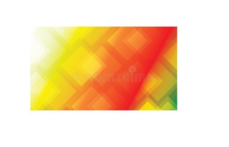 与梯度颜色和正方形的抽象五颜六色的背景 库存图片