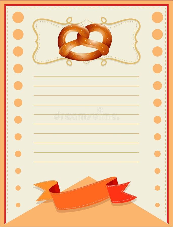 与椒盐脆饼设计的线纸 库存例证
