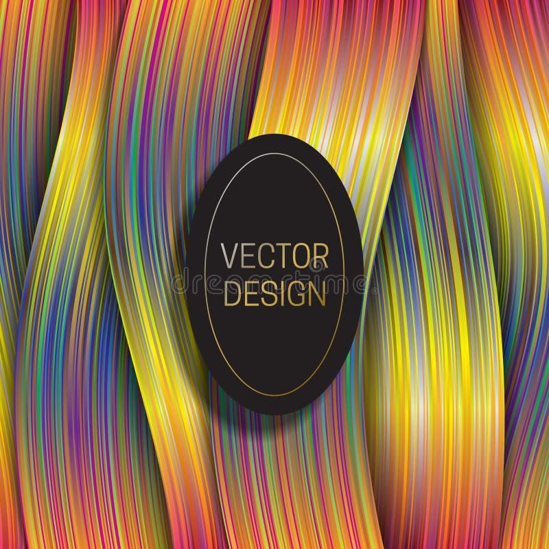 与椭圆黑色和金框架的全息照相的层数背景 时髦成套设计或盖子模板 皇族释放例证