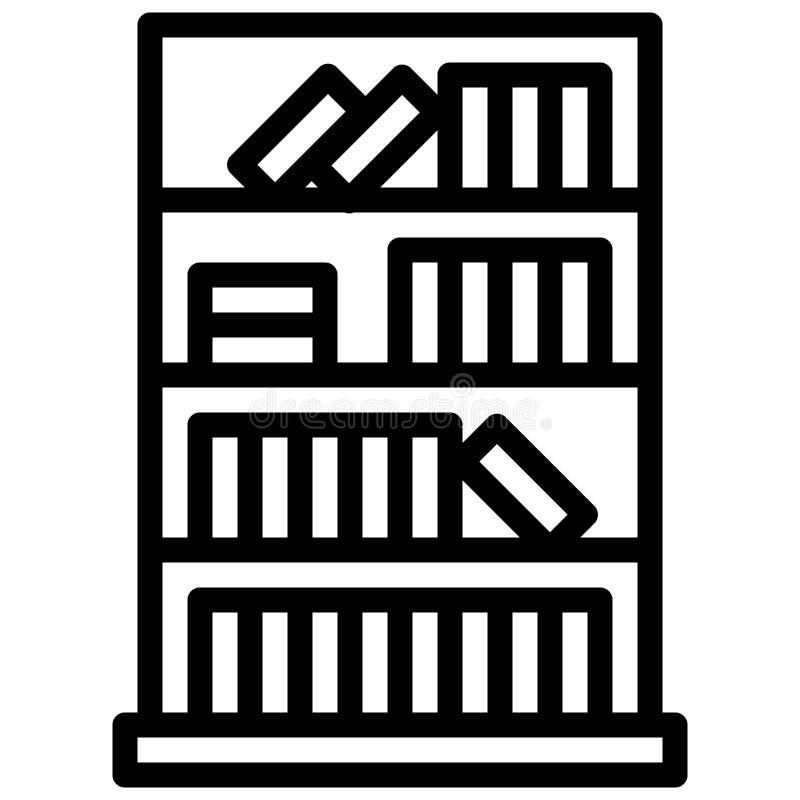 与概述样式的书橱象 向量eps10例证 向量例证