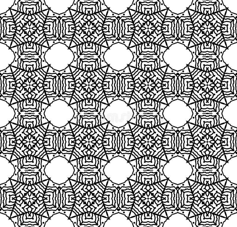 与概述网络的无缝的装饰装饰品 库存例证