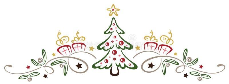 与槲寄生的圣诞树 皇族释放例证
