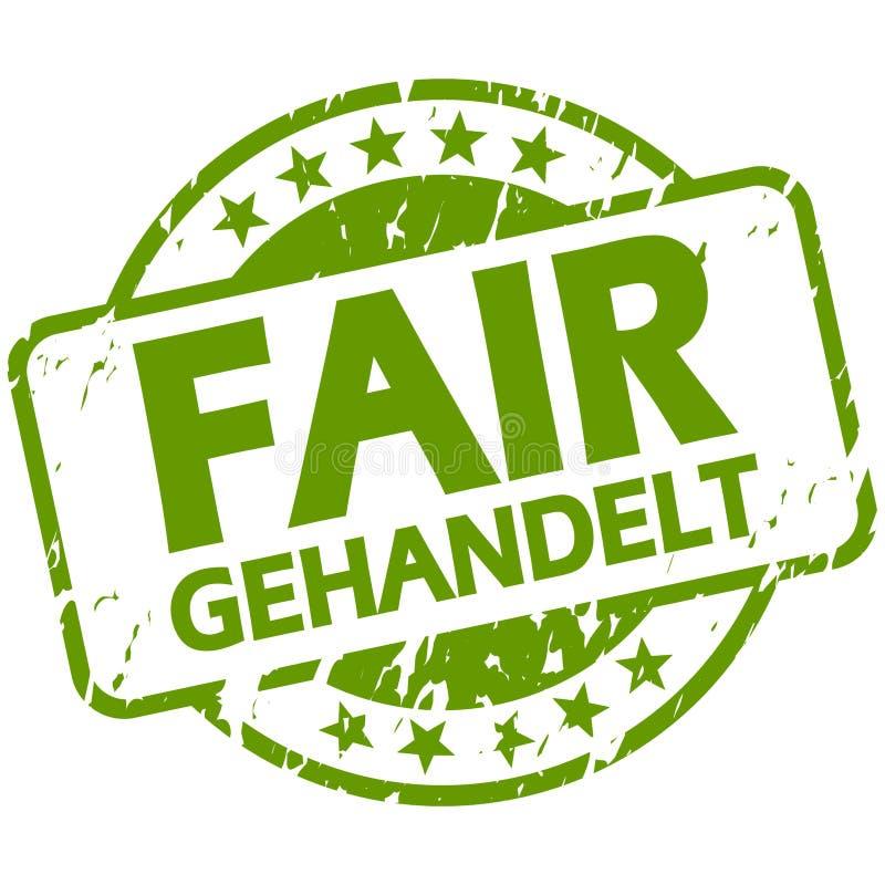 与横幅公平交易(的绿色邮票;用德语 皇族释放例证