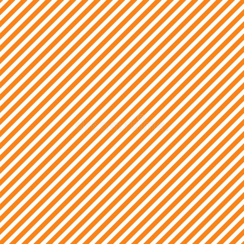 与橙色和白色对角条纹,无缝的纹理背景的无缝的样式 万圣夜,感恩节 库存例证