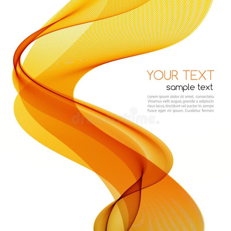 与橙色波浪的抽象五颜六色的背景 库存例证