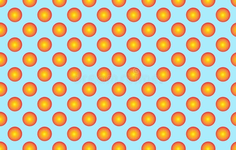 与橙色球状小点的样式 金黄球状圆点p 向量例证
