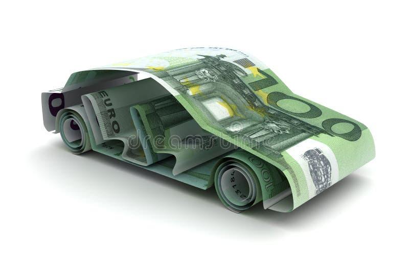 与欧元的汽车财务 向量例证