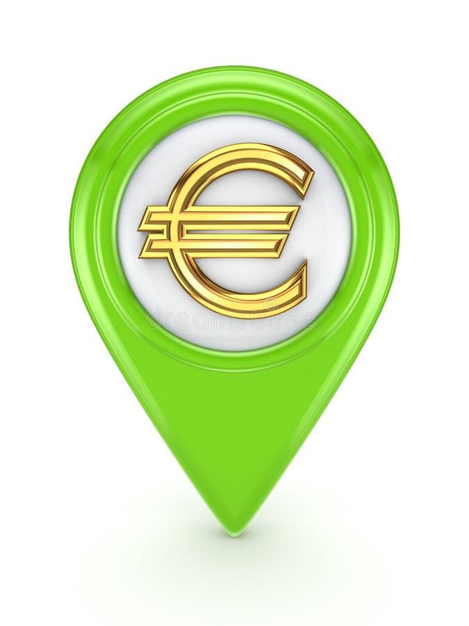 与欧盟符号的图标。 库存例证