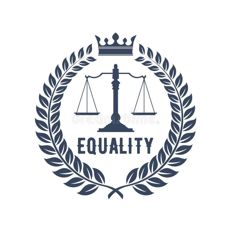 与正义标度的律师事务所标志  库存例证