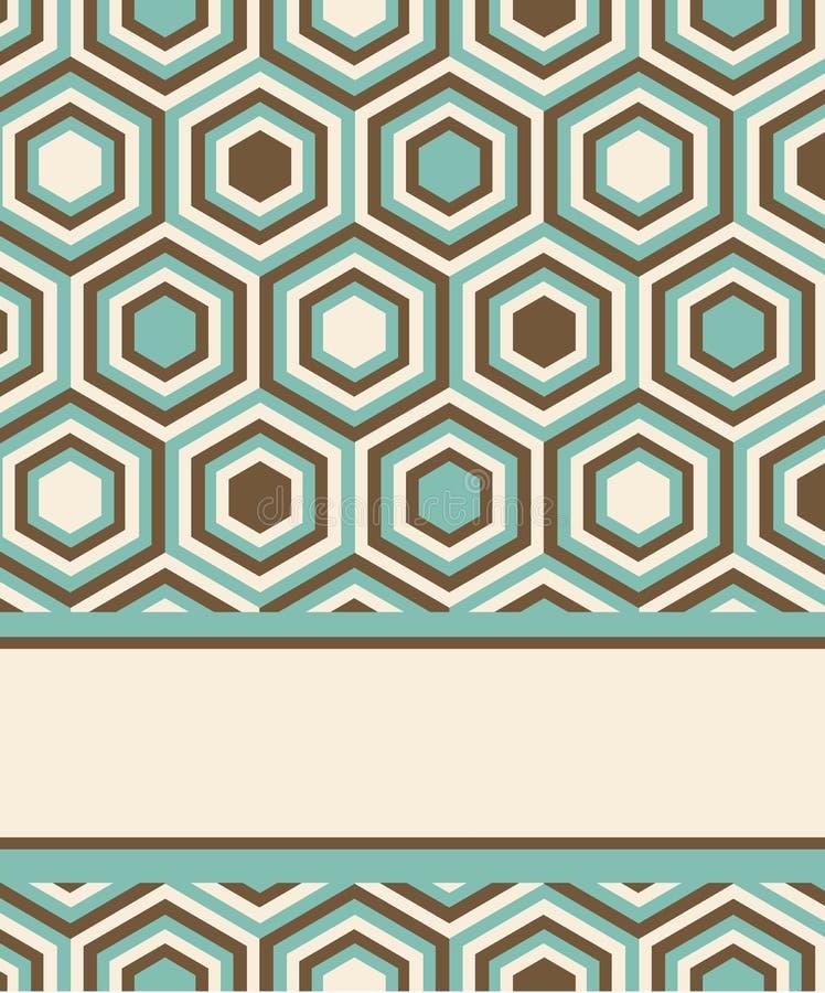 与正方形和星形的方式模式 皇族释放例证