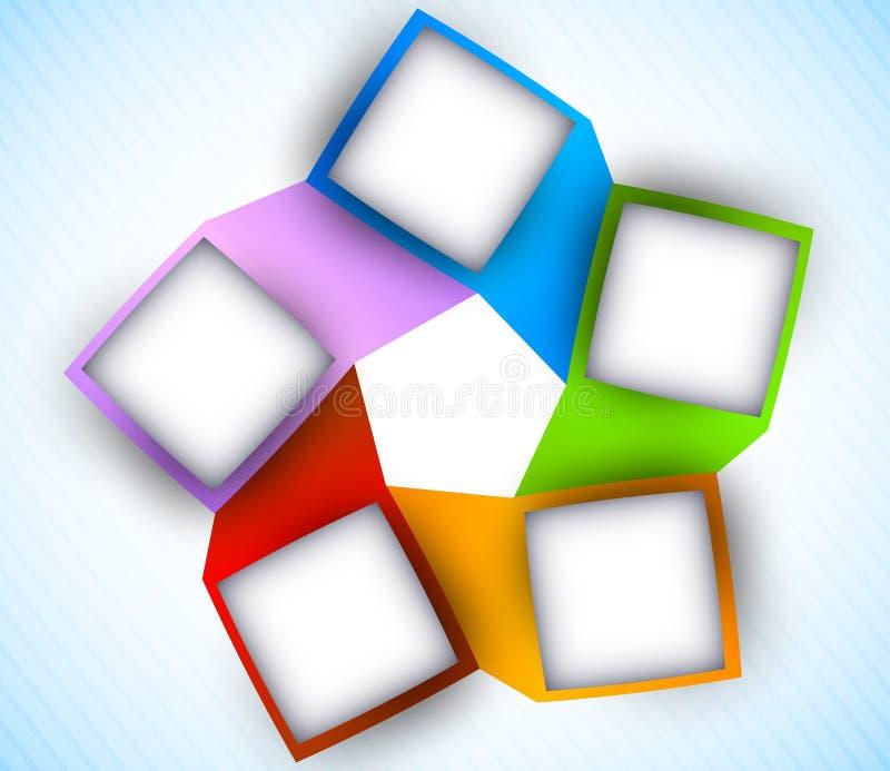 与正方形的抽象绘制 向量例证