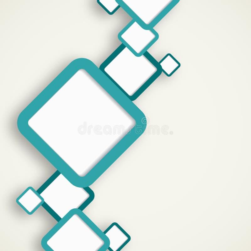 与正方形的Infographic模板 向量例证