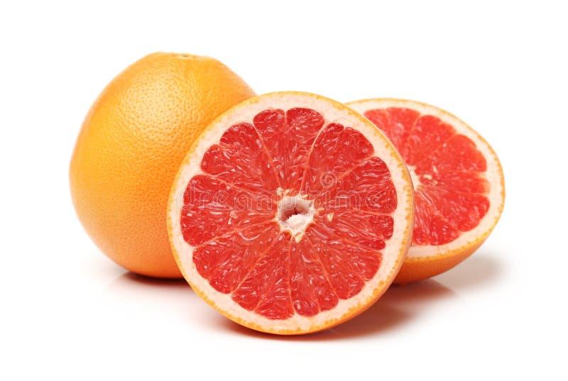 与段的葡萄柚 免版税库存图片