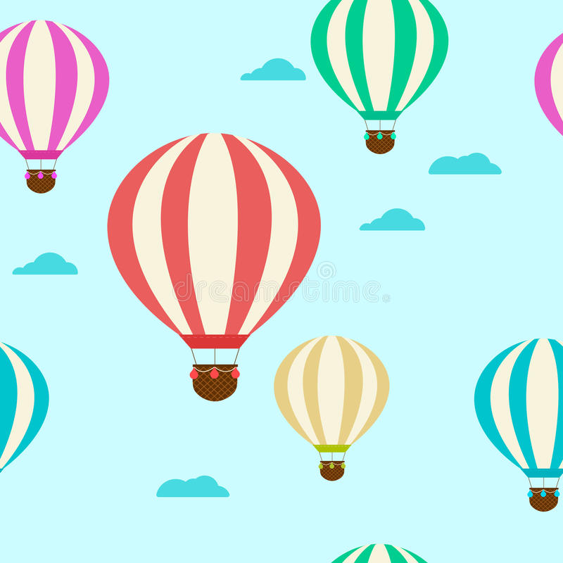 与气球的样式 陈腐 向量例证
