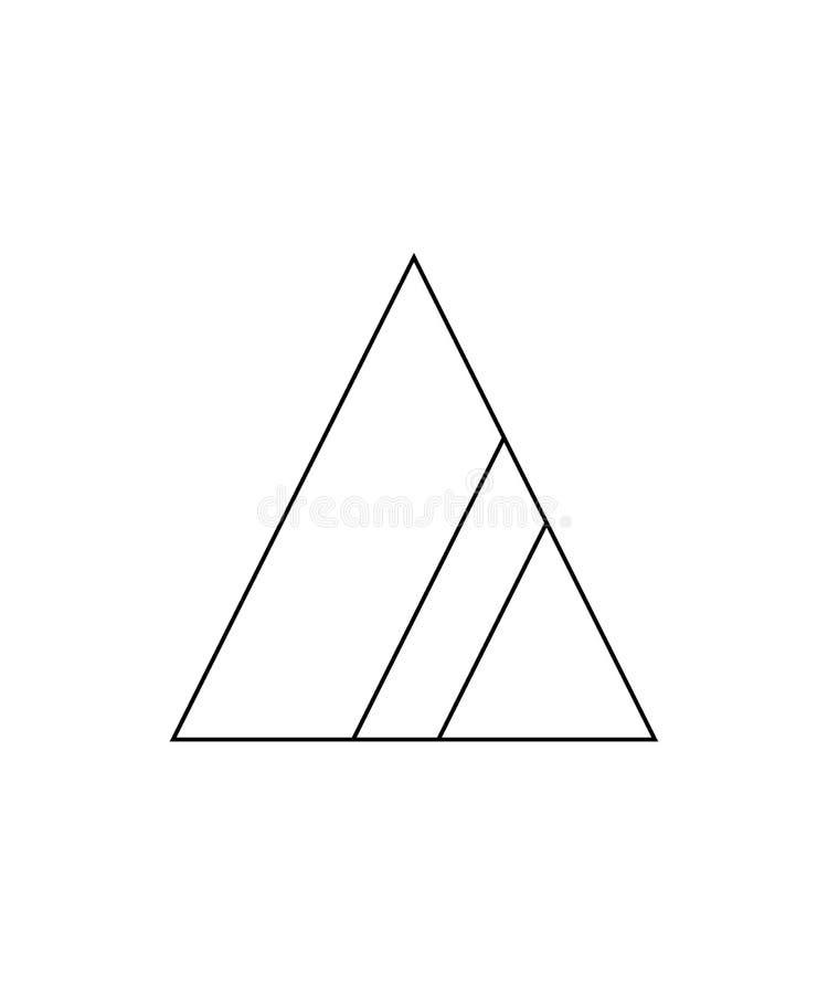与氧气包含的非氯产品的漂白的被允许 非氯漂白需要的标志 与两小条的三角  皇族释放例证