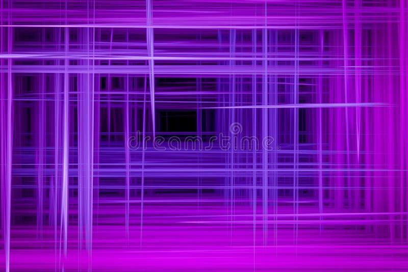 与水平和垂直的中断的抽象背景 皇族释放例证
