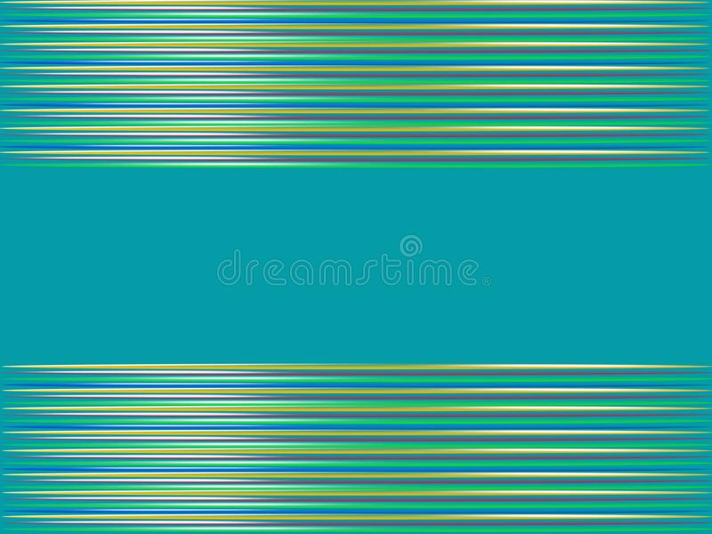 与水平的条纹的抽象蓝色背景 向量例证