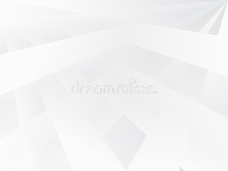与水平的条纹纹理的白色抽象背景 与灰色梯度线的传染媒介样式 皇族释放例证