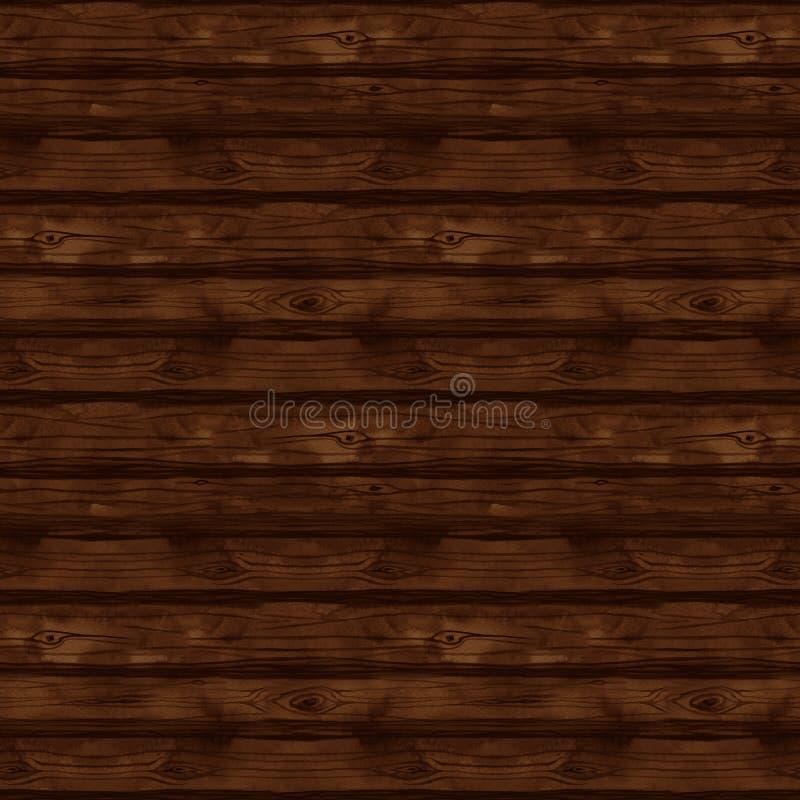 与水彩木头纹理,板,篱芭,地板,墙壁,木头,树,木柴,木材,木材的无缝的样式 向量例证