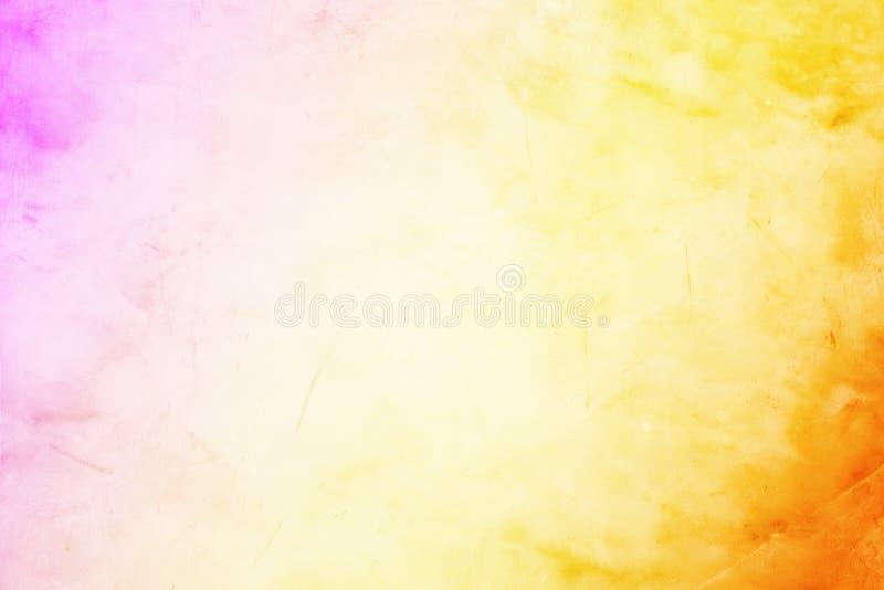 与水泥微弱的textu的温暖的橙色和紫色难看的东西背景 向量例证