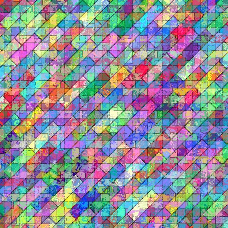 与污点传染媒介例证的抽象几何背景 向量例证