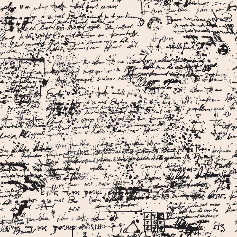 与污点和杂文的中世纪纸莎草 向量例证