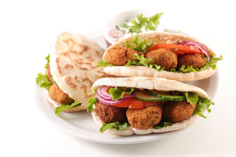 与沙拉三明治的三明治 库存照片