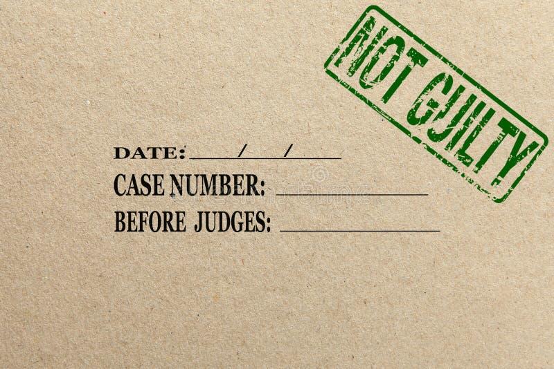 与没有罪文件夹的纸纹理 免版税库存照片