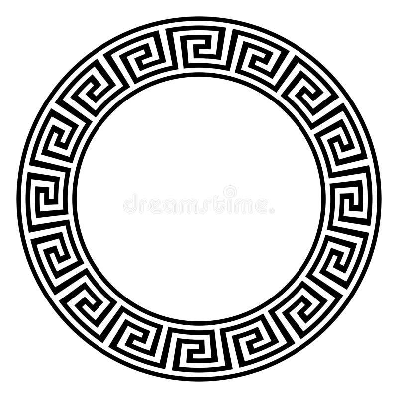 与河曲神色的迷宫圆环在黑白在被隔绝的白色背景 库存例证