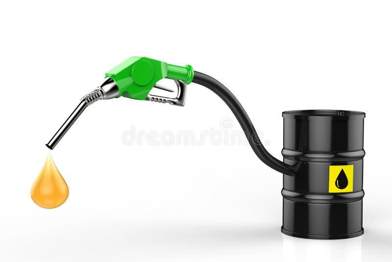 与油小滴的气管和原油滚磨 皇族释放例证