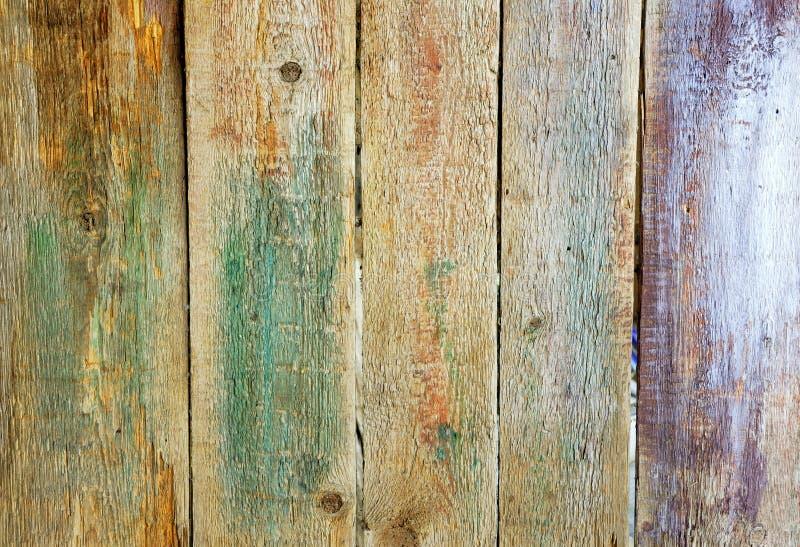 与油漆涂抹的木头  库存图片