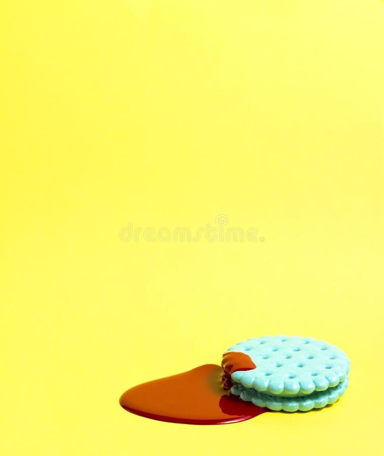 与油漆的薄脆饼干 免版税库存照片